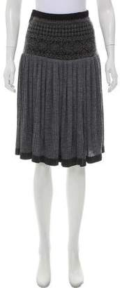 Jean Paul Gaultier Yoke-Waist Pleated Skirt