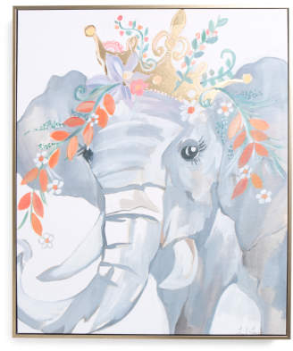 20x24 Liesel Elephant Canvas Wall Art