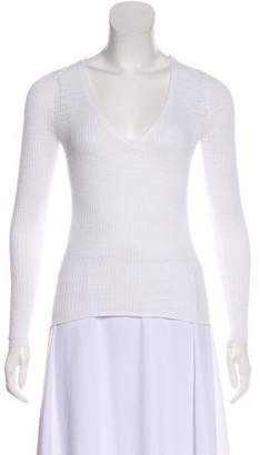 360 Sweater Long Sleeve V-Neck Top