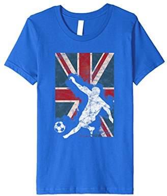 England Flag Soccer Player Team T-Shirt