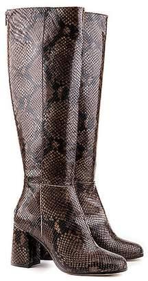 Formentini Perla Giunone Python Embossed Leather Boot