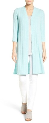 Women's Chaus Rib Knit Long Open Front Cardigan $79 thestylecure.com