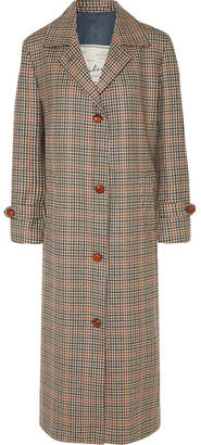 BEIGE Giuliva Heritage Collection - Maria Checked Wool Coat