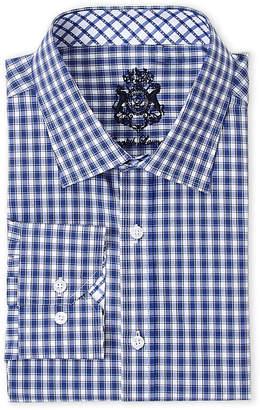 English Laundry Blue & White Checked Dress Shirt