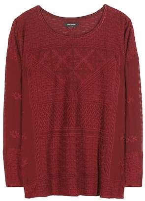 Isabel Marant Alva embroidered silk top