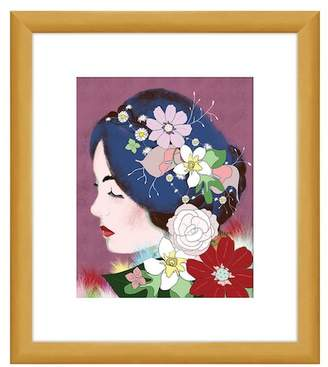 """PTM Images Lady in Flowers Wall Art - 14\"""" x 16\"""""""