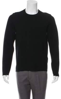 Acne Studios Crew Neck Rib Knit Sweater black Crew Neck Rib Knit Sweater