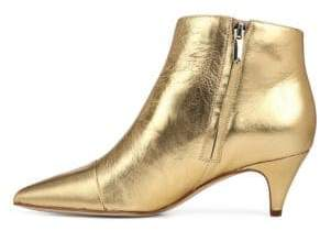 Sam Edelman Kinzey Metallic Leather Kitten Heel Booties