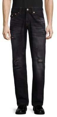True Religion Distressed Straight-Leg Jeans