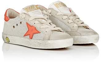 Golden Goose Kids' Superstar Suede & Mesh Sneakers