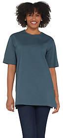 Denim & Co. Essentials Cotton Jersey OversizedScoopneck Tee