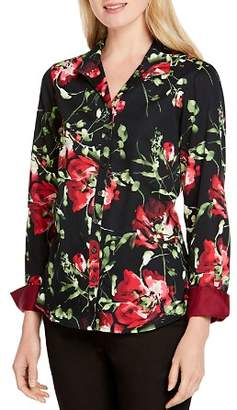 Foxcroft Rhonda Cotton Floral-Print Shirt