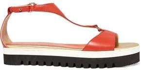 Just Cavalli Leather Platform Sandals