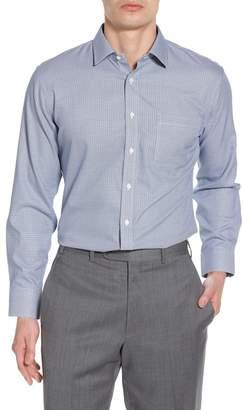 Nordstrom Smartcare(TM) Trim Fit Houndstooth Dress Shirt