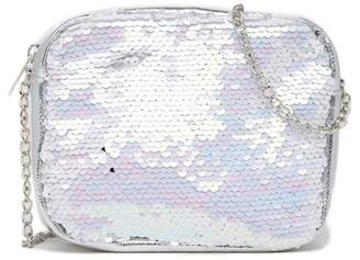 Capelli of New York Reversible Sequin Crossbody Bag