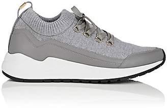 Buscemi Men's RUN1 Knit & Leather Sneakers - Gray