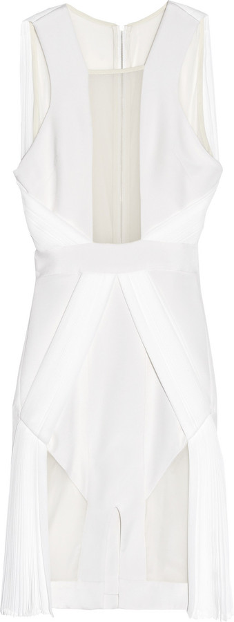 Dion Lee Pleated tulle and silk-blend dress