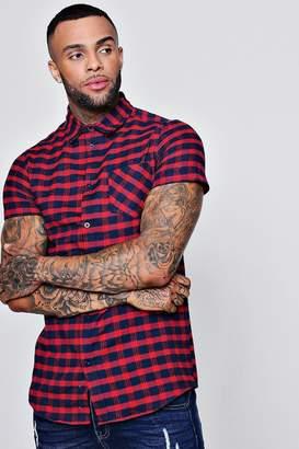 boohoo Short Sleeve Check Shirt