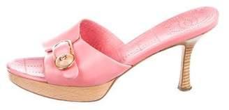 Chanel CC Leather Slide Sandals