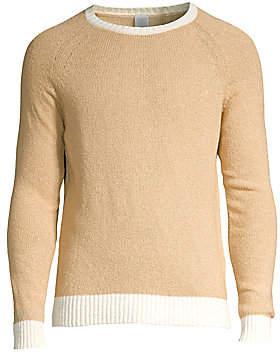 Eleventy Men's Contrast Crewneck Sweater