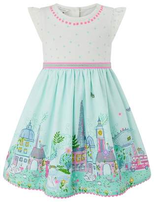 Monsoon Baby Girls' White 'Lola London' Dress