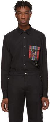 Alexander McQueen Black Contrast Pocket Shirt