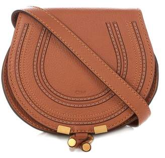 Chloé Marcie Mini Leather Cross Body Bag - Womens - Tan