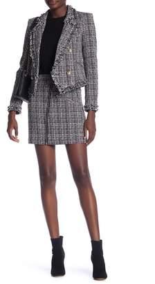 Romeo & Juliet Couture Tweed Zip Pocket Skirt