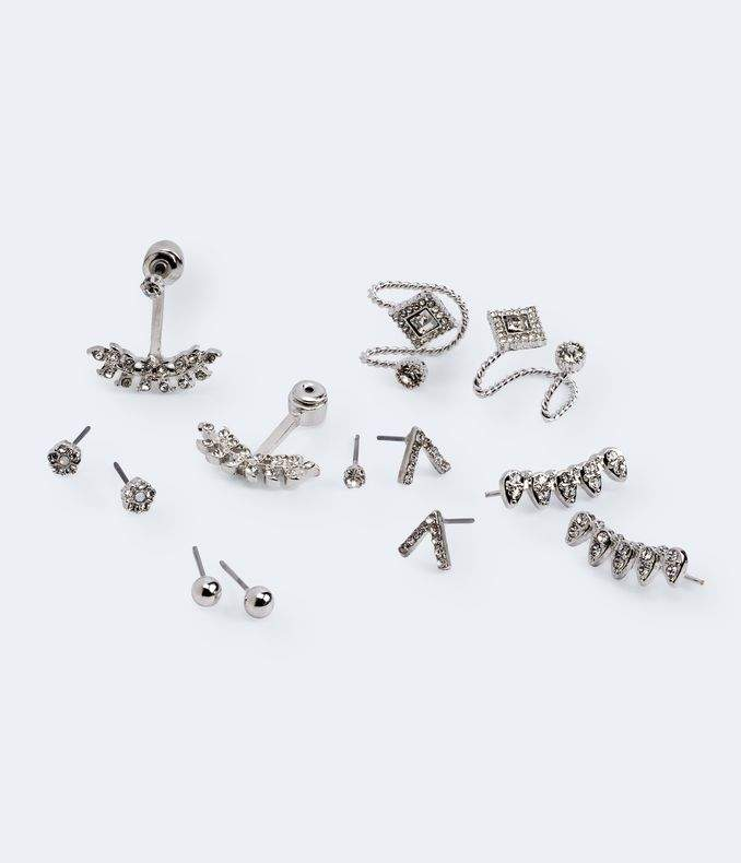 Glitzy Stud, Jacket, French Wire & Cuff Earring 6-Pack