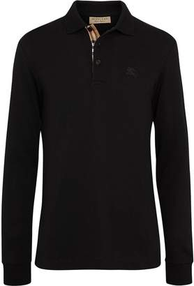 Burberry long-sleeve polo top