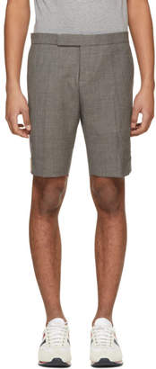 Thom Browne Grey Low-Rise Skinny Side Tab Shorts