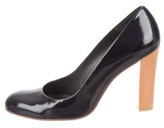 Stuart Weitzman Round-Toe Patent Leather Pumps