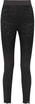 Dolce & Gabbana Guipure Lace Slim-leg Pants - Black