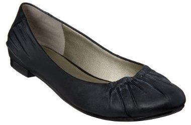 Women's Mossimo® Black Vonesha Leather Flats - Black