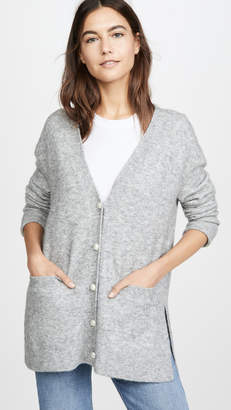 3.1 Phillip Lim Lofty Welt Pocket Cardigan with Pearls