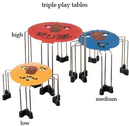Fish Design - triple play tables by gaetano pesce