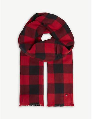 Tommy Hilfiger Check print cotton scarf