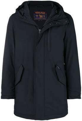 Woolrich hooded zipped coat