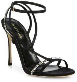 Sergio Rossi Lexington Swarovski Crystal Strappy Sandals