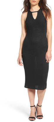 Socialite Keyhole Knit Midi Dress $52 thestylecure.com