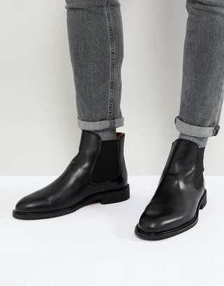 Selected leather chelsea boots