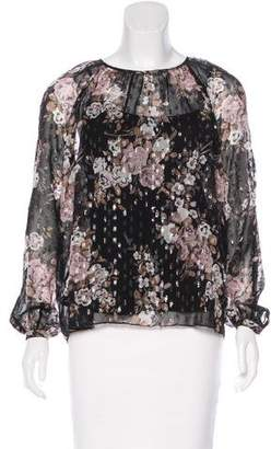 Needle & Thread Metallic Floral Print Blouse w/ Tags