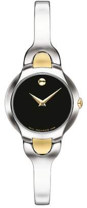 Movado Women's Kara Swiss Quartz Two-Tone Bangle Watch, 24mm