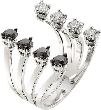 Delfina Delettrez 18kt White Gold Ring with White and Black Diamonds