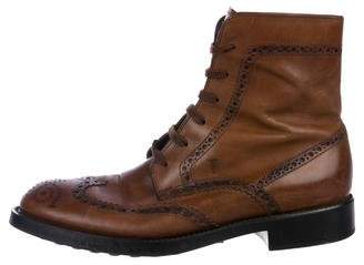 Tod's Leather Brogue Boots
