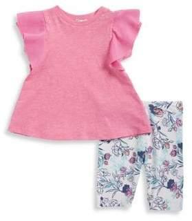 Splendid Baby Girl's Top and Floral Legging Set