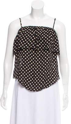 Haute Hippie Sleeveless Polka Dot Top