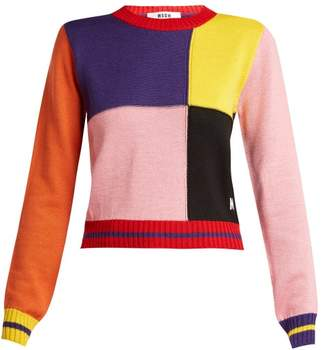 MSGM Multicoloured Patchwork Sweater - Womens - Multi