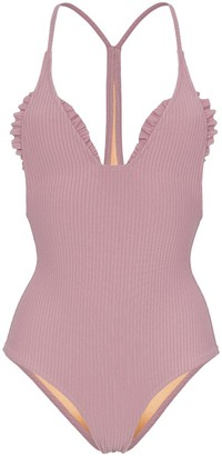 Made by Dawn Traveller ribbed swimsuit