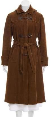 Max Mara Weekend Corduroy Hooded Coat